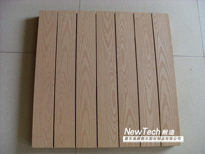 美新耐迪塑木空心地板(木塑型材)