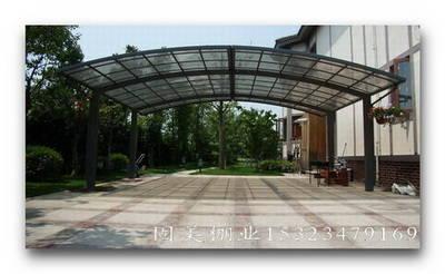 自行车车棚 铝合金车棚 钢结构车棚 膜结构车棚 雨棚 铝合金雨棚 别墅
