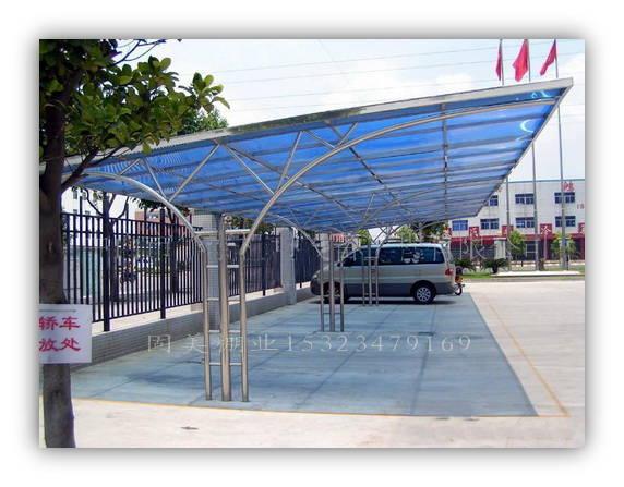 苏州自行车棚 遮阳布车棚,别墅雨棚产品图片,苏州自行车棚 遮阳布