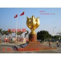 河北卫刚铜雕大型城市雕塑紫荆花