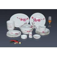 56头骨瓷餐具套装红梅花