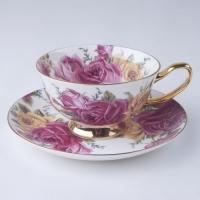 潮州市骨质瓷杯碟套装,欧式杯碟套装,唐山杯碟套装
