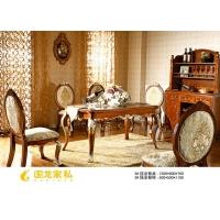 成都罗马家园-描金餐桌椅