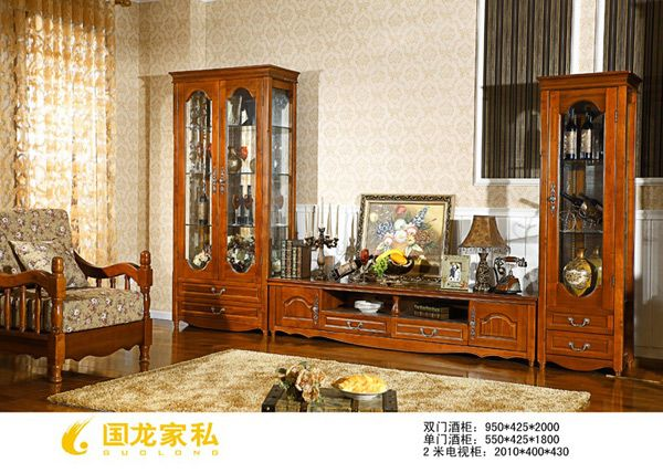 成都罗马家园-单双门酒柜带电视柜