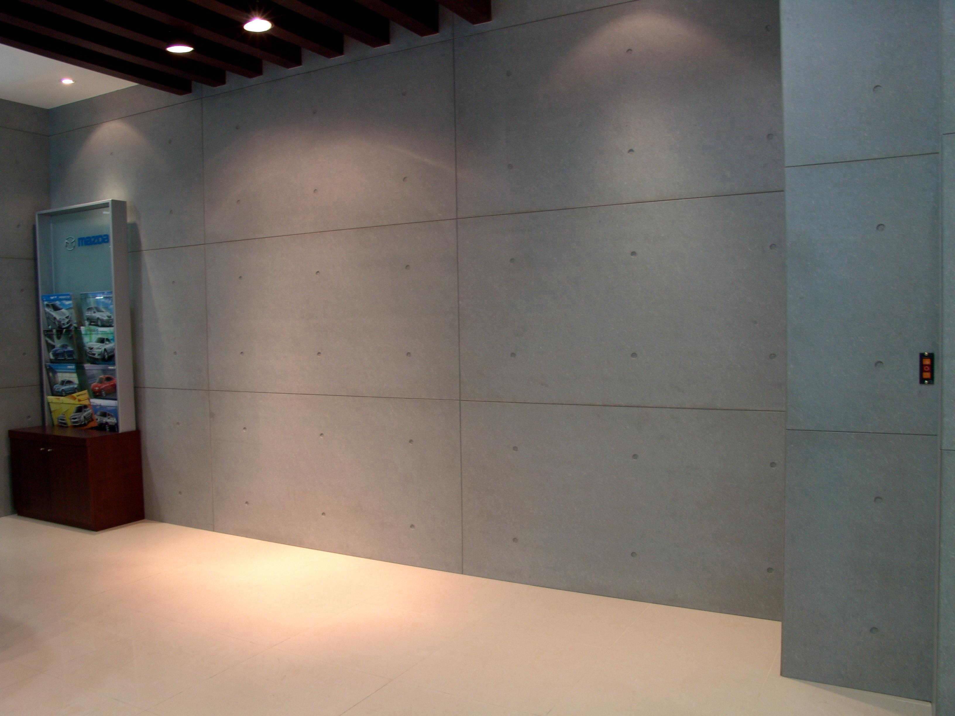 清水效果装饰材料:斯麦尔木丝水泥板;清水混凝土板 Smk木丝水泥板 九正建材网