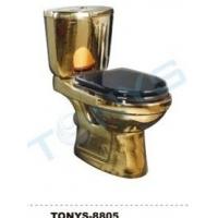 金色座便器、马桶、坐厕、坐便器