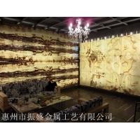 天然透光石——发光背景墙