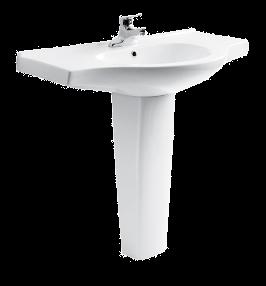 成都洁具-恒洁卫浴柱式面盆H224