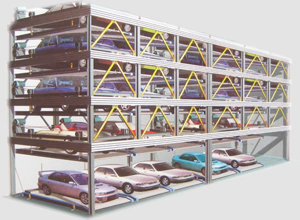 升降横移类立体车库的控制系统通过采用plc和