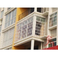 四川锌合金新型防护窗江西萍乡金为锌钢护栏护窗阳台护栏