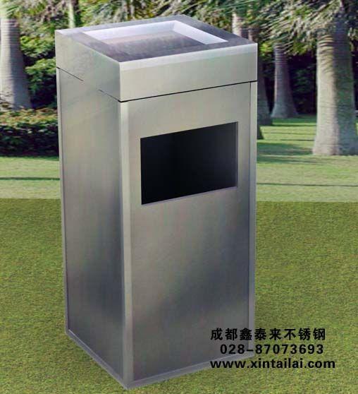成都公园不锈钢垃圾桶