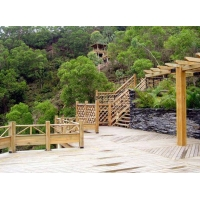 防腐木台步护栏-陕西西安顺达园林景观建材