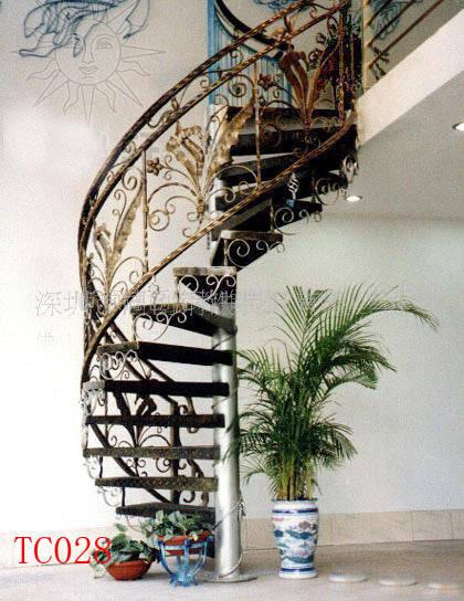 深圳铁艺楼梯扶手图片