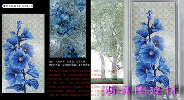 马赛克背景墙--花卉系列