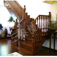 实木楼梯001|三秦楼梯|陕西实木楼梯