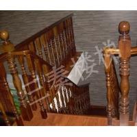 实木楼梯003|三秦楼梯|陕西实木楼梯