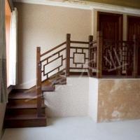 实木楼梯052|三秦楼梯|陕西实木楼梯