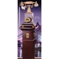 秀之美工艺礼品-玉石电话系列-套装木座电话
