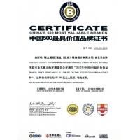 中国500最具价值证书