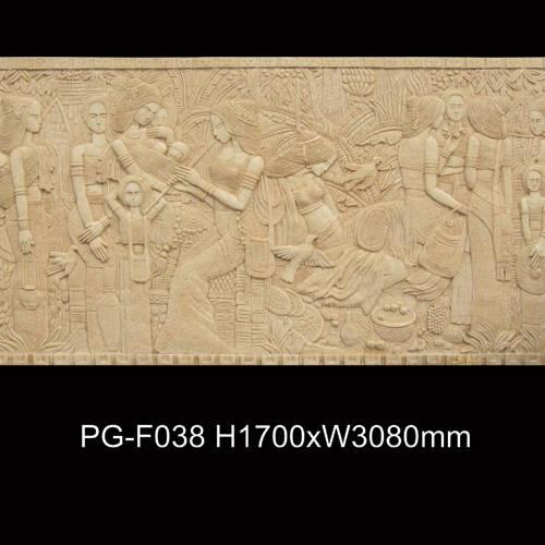 f038-浮雕壁画|自然陶艺术砂岩石|西安浮雕壁画