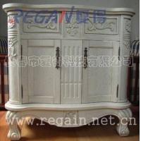 复得实木雕刻卫浴柜