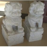 汉白玉石狮子陵墓园石狮子石狮子