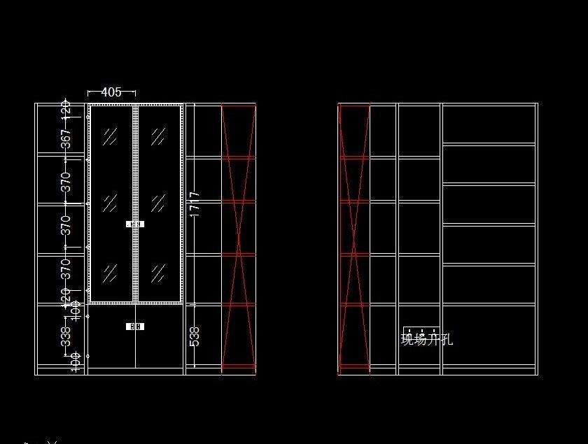 转角书柜衣柜一体设计图展示