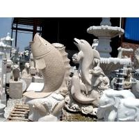 石雕鲤鱼海豚鱼戏水,龙凤大鹏,大象骏马,宝瓶鹿鹤
