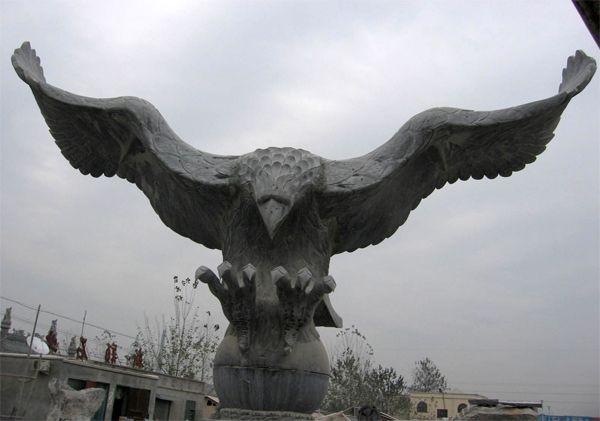 石雕 中国/石雕鹰大鹏石雕苍鹰雄鹰,雄鹰展翅,鹏程万里