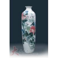 景德镇陶瓷花瓶国色天香粉彩瓷大花瓶