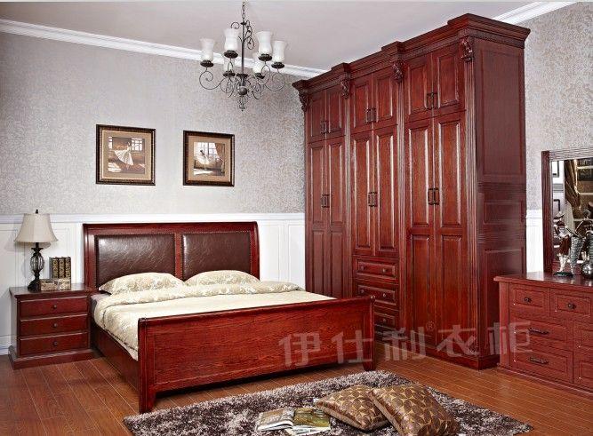 广州伊仕利衣柜直销135美式整体衣柜、衣柜定制