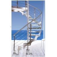 不锈钢旋转玻璃踏板楼梯