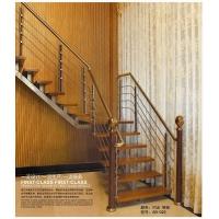 钢木楼梯,直梁楼梯,喷涂楼梯