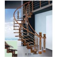 木纹楼梯 钢木楼梯 整体楼梯 单炮筒龙骨楼梯