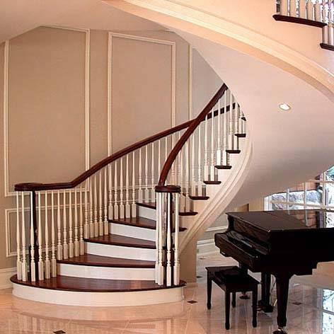 弧形楼梯产品图片,弧形楼梯产品相册 - 武汉鑫隆雅步楼梯 -