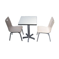 青海钢木餐桌定做 西宁钢木餐桌生产 三星泽厚餐桌生产