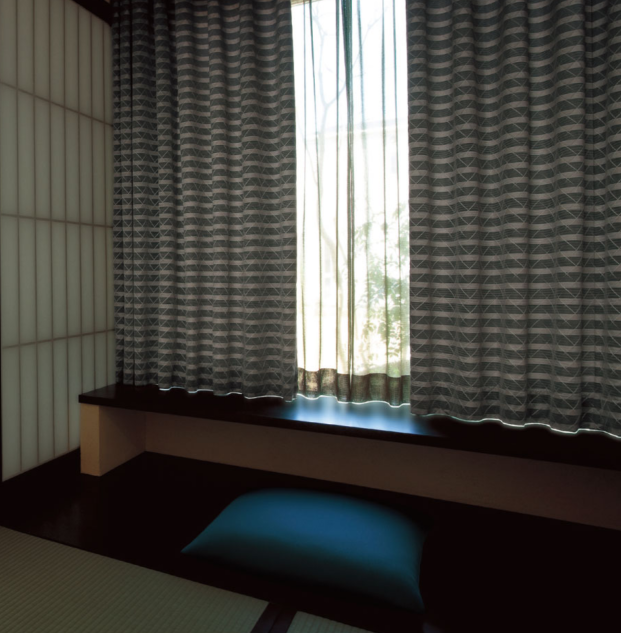 日本窗帘进口山月窗帘
