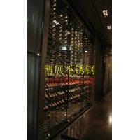 不锈钢玫瑰金酒架,不锈钢红酒架,不锈钢红酒柜