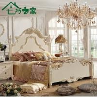 七巧之家 1.8公主床 白色实木双人床