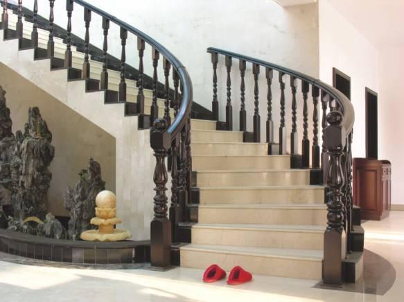 瑞王楼梯-瑞王全木楼梯系列-旋转楼梯-半圆半直楼梯 瑞王楼梯-瑞王
