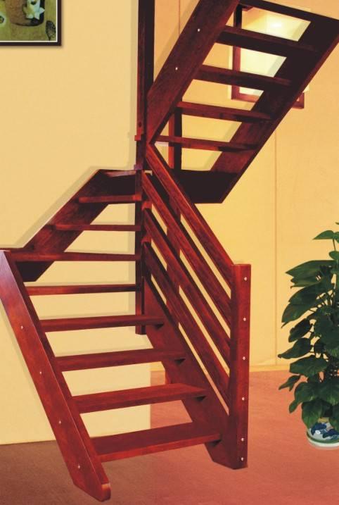 瑞王楼梯 瑞王全木楼梯系列 U型楼梯 水木清华2产品图片,瑞王楼梯