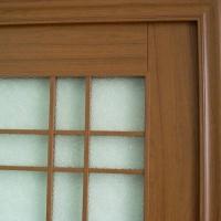 成都家美门窗-拼装门系列-玻璃门一角