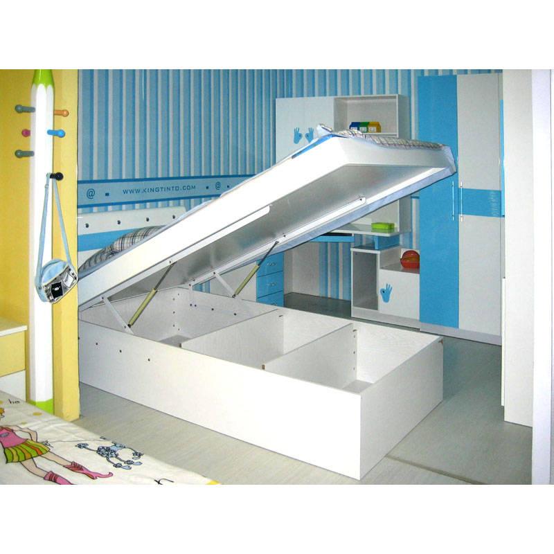 西安儿童家具-511气动高箱床图片