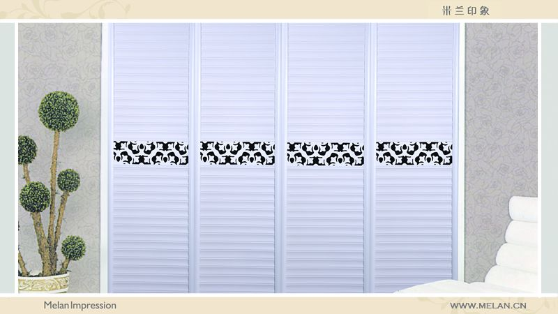 北欧极简风格衣柜门效果图