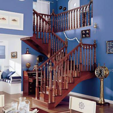 南京楼梯-南京实木楼梯-大发彩票-实木楼梯-HY008