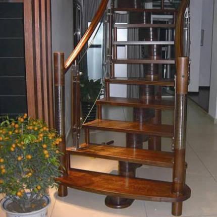 南京楼梯-南京实木楼梯-大发彩票-实木楼梯-HY046