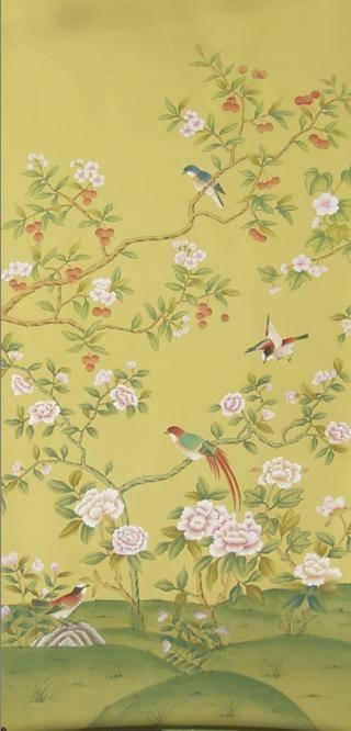 丝绸手绘墙纸 - 杏枫轩墙纸 - 九正建材网(中国建材第