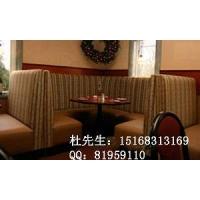 杭州咖啡厅沙发桌椅组合|材质:松木+布艺