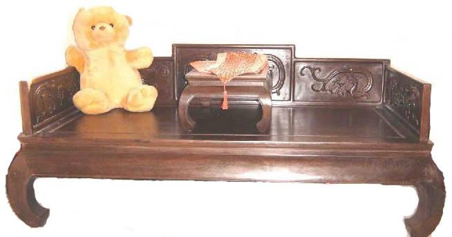 鸡翅木罗汉床 - 博宝家具