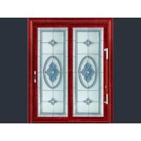 三层镶嵌玻璃艺术门